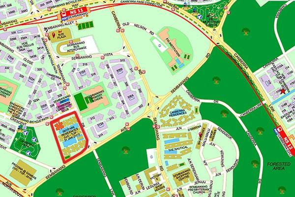skypark residences location map