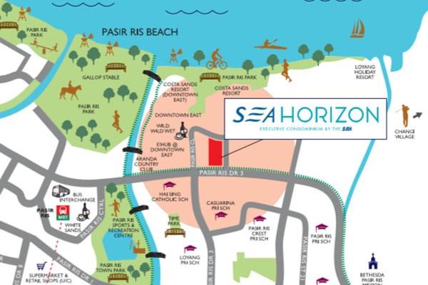 sea horizon location map