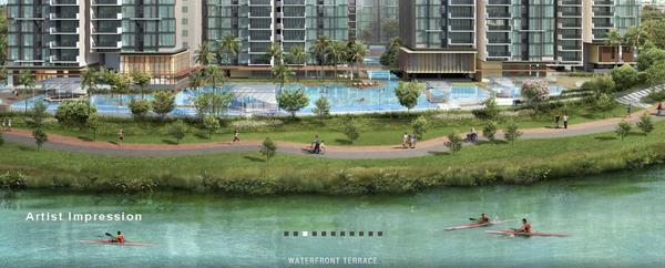 waterfront facade