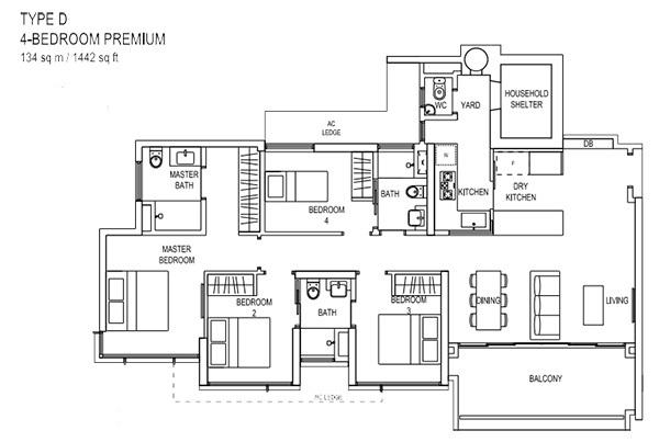 the terrace ec floor plan Type D