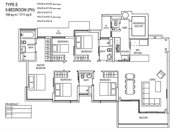 the terrace ec penthouse floor plan