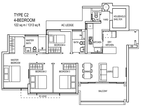 the terrace ec floor plan Type C2