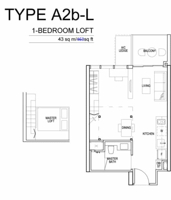 Sims Urban Oasis Floor Plan A2