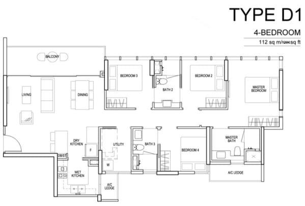 Sims Urban Oasis Floor Plan 4Br