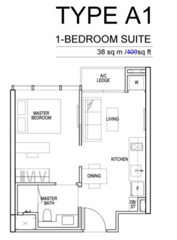 Sims Urban Oasis Floor Plan A1