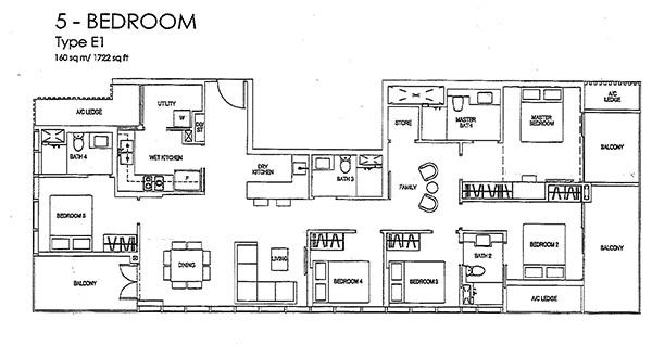 Sims Urban Oasis Floor Plan Type E1