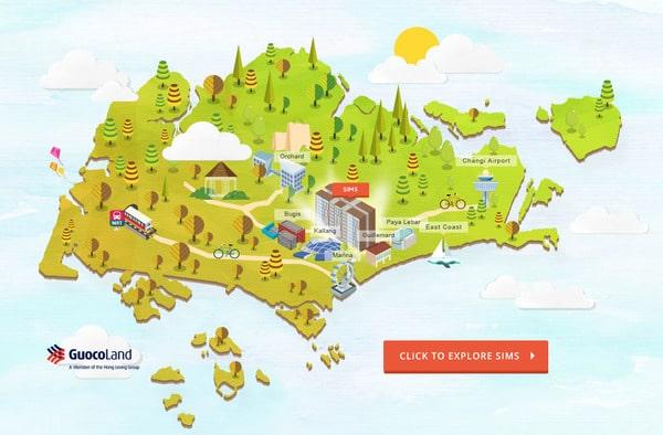 sims urban oasis interactive map