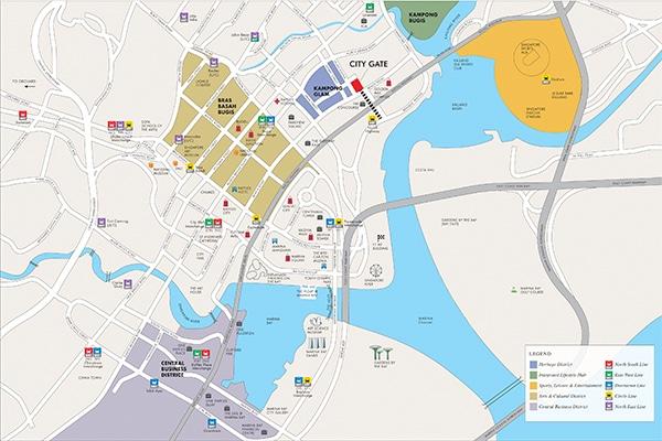 City Gate Condo Location Map