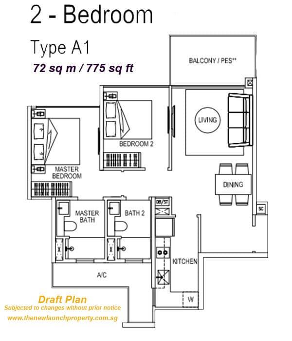2bedroom floor plan