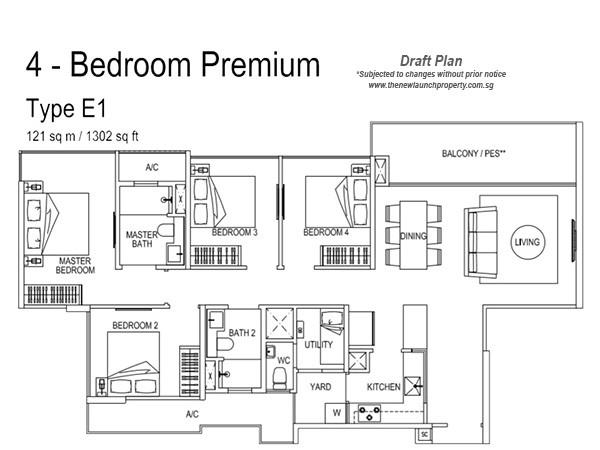 signature ec 4Bedroom Floor Plan